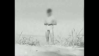 Huge vintage cock at a German nude beach