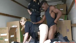 Vintage cuckold interracial Black suspect taken on a rough
