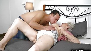 Norma B needs a young cock in her vintage pussy