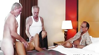 Old school vintage and daddy fucks emo Staycation with a
