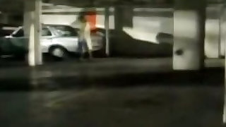 Police lady watches housewife fucking in car
