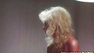 Old school blonde gets drilled roughly