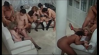 Italian vintage porn and the amazing orgy
