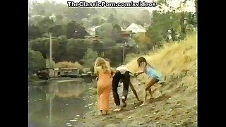 Lyn Cuddles Malone, Dan Roberts, Joey Silvera in vintage porn site