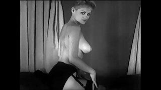 Vintage Cute Blonde Striptease